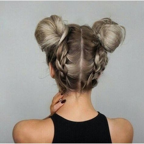 Double dutch braided bun updo hairstyles - Updo Hairstyles to try this summer – 14 different hair buns