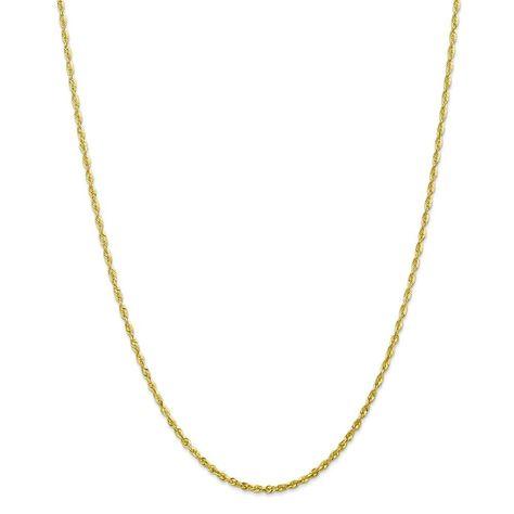 14K Tri-Color Gold 1.80MM Diamond-Cut Rope Link Anklet Bracelet