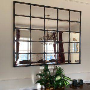 Eagan Large Multipanel Wall Mirror 44 X 55 Mirror Dining Room Dining Room Mirror Wall Living Room Mirrors