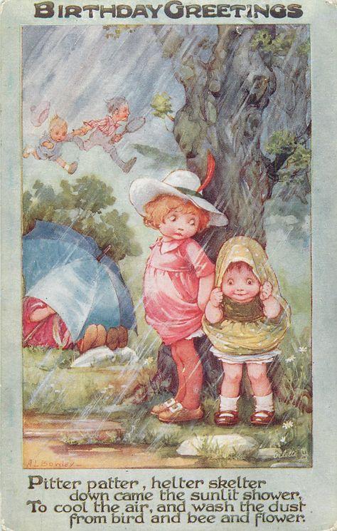 A.L. Bowley - Vintage Birthday Card