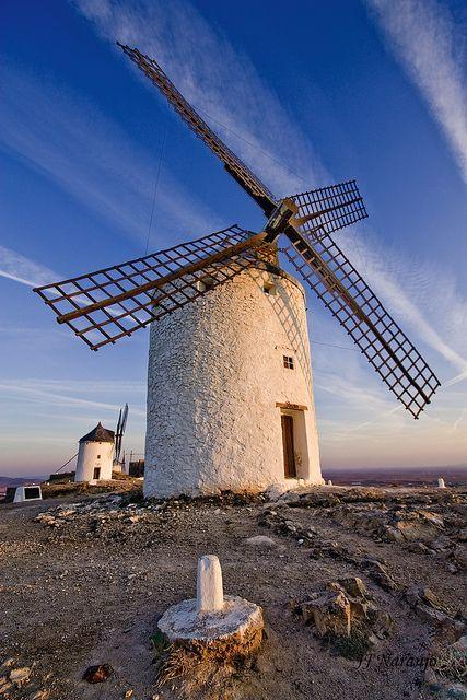 Windmill in Consuegra, Castilla-La Mancha , Spain
