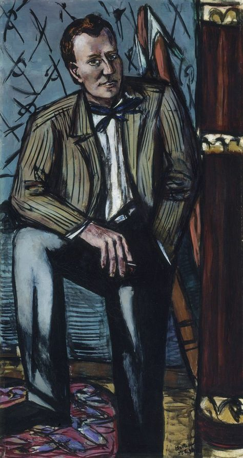 Max Beckmann - Self Portrait in Florence, 1907   Max
