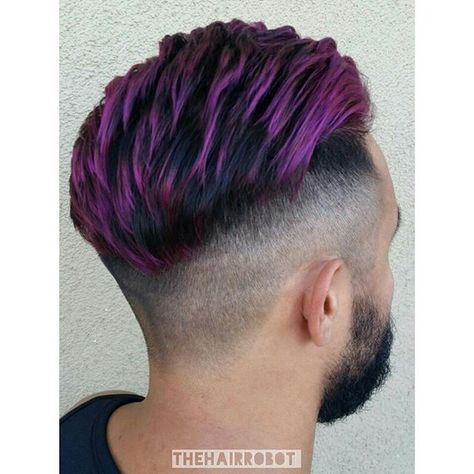 Pin By Ryan Mintz On Mama Hair Magenta Hair Hair Highlights Mens Hair Colour
