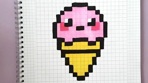Glace Kawaii En Pixel Art Tuto Facile Youtube Avec