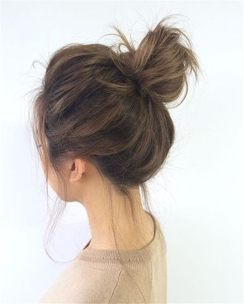 Image result for Messy Topknot