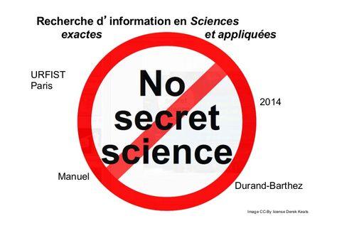 Outils documentaires (moteurs libres) de recherche d'information en sciences exactes et appliquées