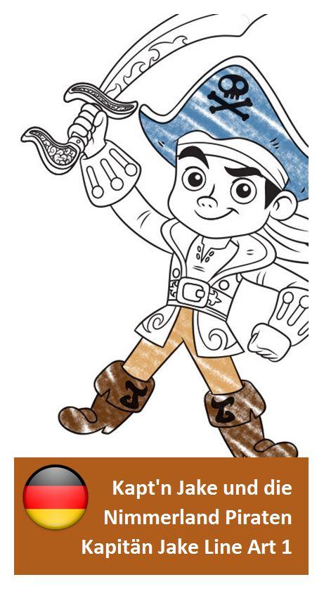 malvorlagen jake und die nimmerland piraten jung