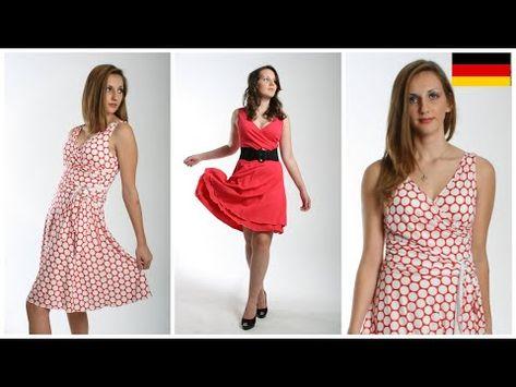 Wie man ein Wickelkleid näht | 50iger Jahre Kleid | Marylin Monroe Wickeloptik | Frocks & Frolics - YouTube