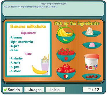 Receta En Ingles Para Ninos De Primaria Recetas En Ingles Inglés Para Niños Ingles Basico Para Niños