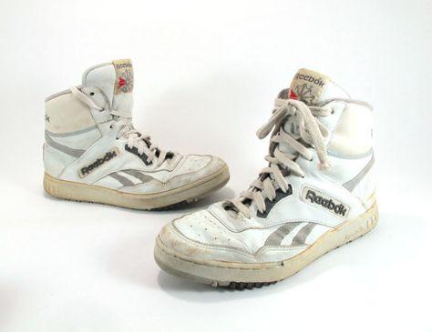 Mens White Reebok High Top Sneakers