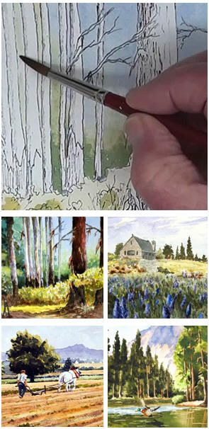 Create Your Own Watercolor Landscape Paintings With The Help Of