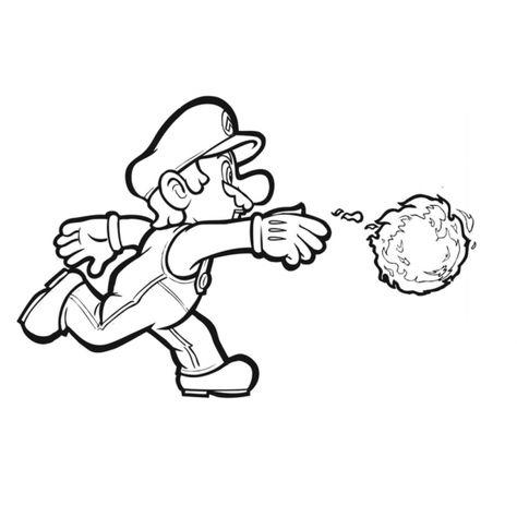 Super Mario Disegni Da Colorare Giochi.Disegno Di Mario Bros Palla Di Fuoco Da Colorare Pagine Da