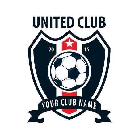 football badge logo template design soccer team vector illuatration in 2020 soccer logo badge logo logo templates football badge logo template design