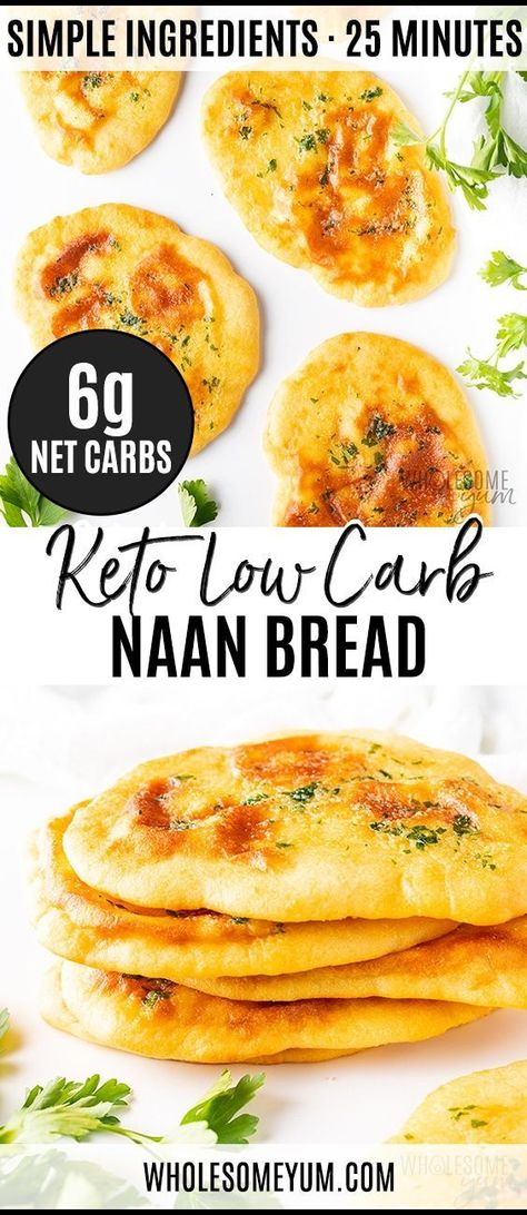 Photo of Low Carb Keto Naan Bread Recipe | Wholesome Yum