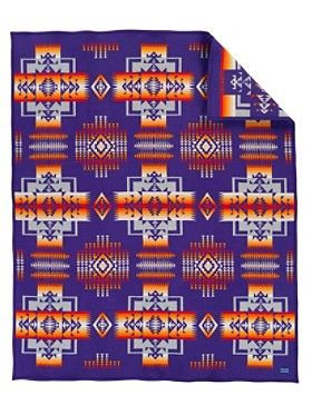 Pendleton Chief Joseph Blanket Felt-bound 82% pure virgin wool/18% cotton  Dry clean Made in the USA
