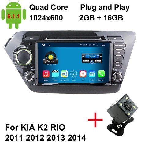 Mjdxl Quad Core Android 5 1 1 Car Dvd Gps Player For Kia Rio K2