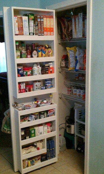 48 Kitchen Pantry Ideas With Form And Function Godiygo Com Pantry Door Storage Pantry Door Organizer Diy Kitchen Storage