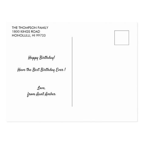 Chocolate Cake | Happy Birthday Greeting Postcard