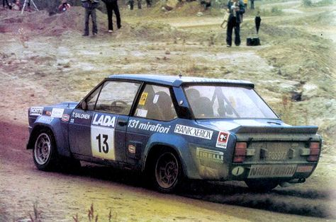 Rally 1000 Laghi 1977 Salonen Markkula Fiat 131 Abarth Secondi