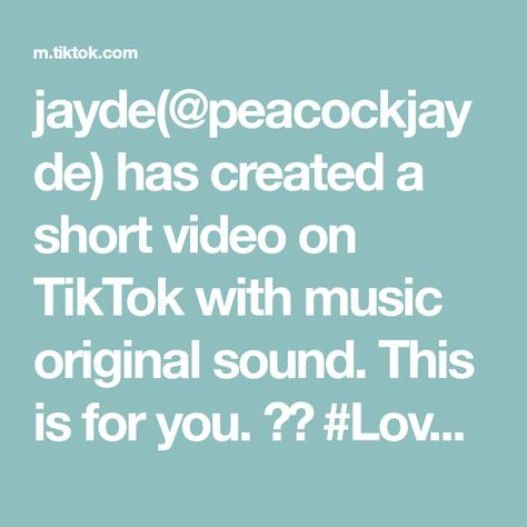 jayde(@peacockjayde) has created a short video on TikTok with music original sound. This is for you. ❤️ #LoveMessage #LoveReading #LoveTarot #TarotMessage #GreenHeartChakraDay #Loge