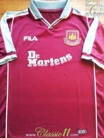 7c92a72b6ed3b Relive West Ham's 1999/2000 season with this vintage Fila home football  shirt.