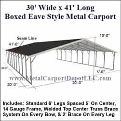 22x21 Boxed Eave Style Metal Carport Alan S Factory Outlet In 2020 Steel Carports Metal Carports Metal Storage Buildings
