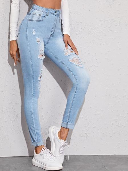 Pin En Pantalones De Jean Denim Mujer