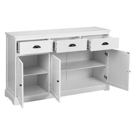 Kitchen Cupboard Storage, White Storage Cabinet With Drawers