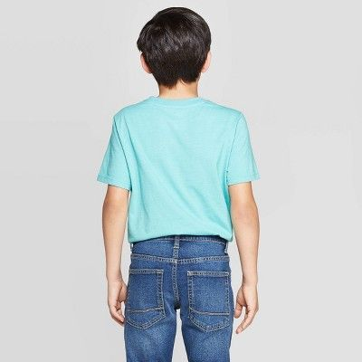 petiteBoys' Short Sleeve Graphic T-Shirt - Cat & Jack Turquoise XXL, Boy's, Blue
