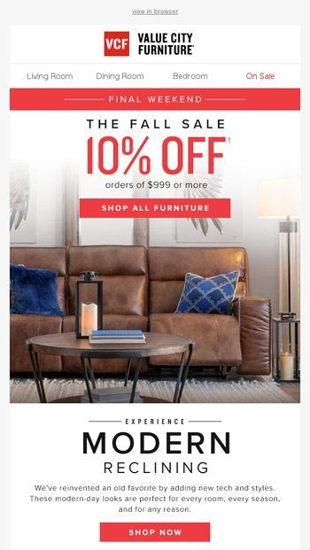 Sale Ends Soon Checkout Our Modern Recliners Value City