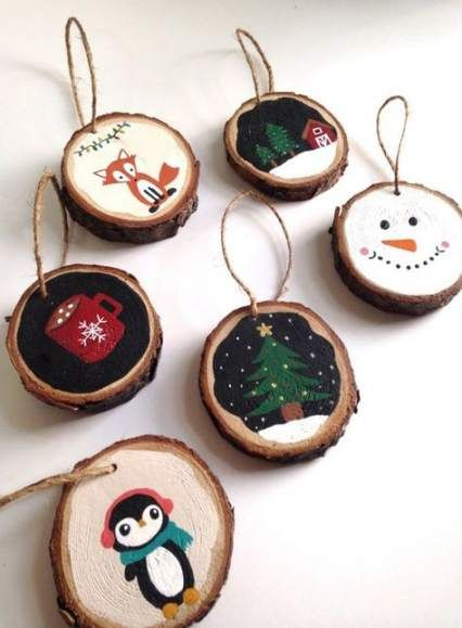 52 New Ideas Painting Wood Ornaments Xmas Christmas Ornament Crafts Painted Ornaments Christmas Ornaments
