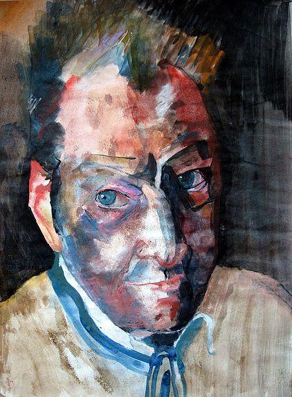 Lucian Freud Portrait A Lencre Aquarelle Et Pastel Pinturas