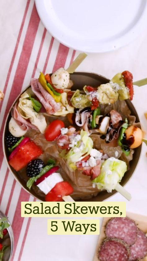 Salad Skewers 5 Ways