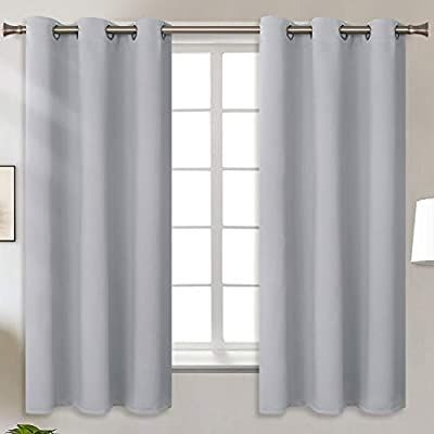 Amazon Com Bgment Blackout Curtains For Living Room Grommet Thermal Insulated Room Da In 2020 Grey Curtains Living Room Curtains Living Room Room Darkening Curtains