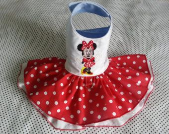 Small dog Harness clothes Chihuahua clothes RedMinnie inspired outfit Designer dog clothes Puppy clothes Dress XS