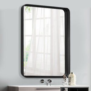 Ivy Bronx Clarkson Geometric Removable Peel And Stick Wallpaper Panel Reviews Wayfair Accent Mirrors Mirror Wall Mounted Mirror