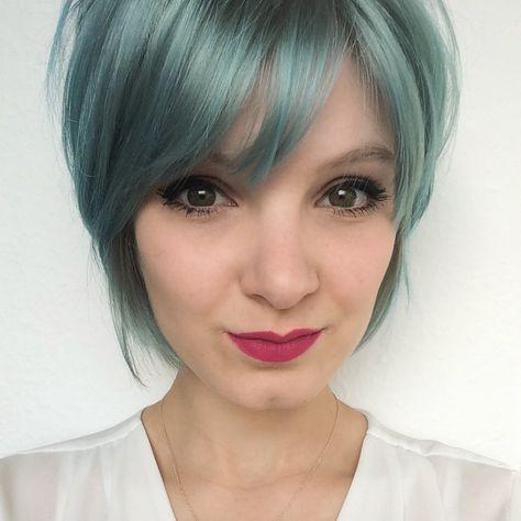 Blaue Haare Blue Hair Hairstyle Instamatic Wella Blue Hair Hair Beauty Hair Color