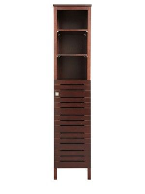 Slatted Tall Bathroom Cabinet Dark Wood Http Www Very Co Uk 1119894511 Prd Cabinets Pinterest