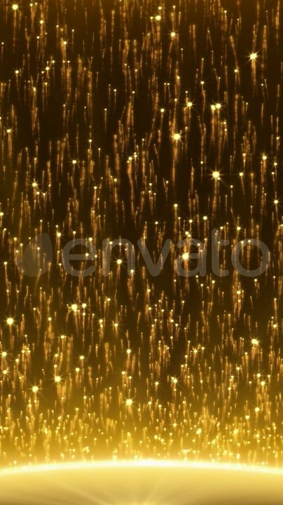 Golden Sun Motion Backgrounds Abstract Particles Seamlessly looped motion background  Background, live wallpapers, screensaver, video wallpapers, stars, planet, particles, abstract space, golden, luxury, VJ, music background, night, club