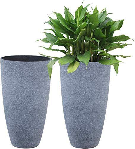Best Seller Tall Planters Set 2 Flower Pots 20 Inch Each Patio