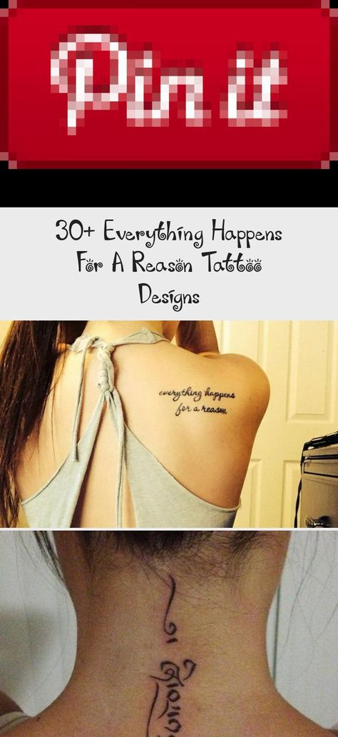 Little Forearm Tattoo Saying everything happens for a reason. #forearmtattoosMeaningful #forearmtattoosAnimal #Upperforearmtattoos #Frontforearmtattoos #forearmtattoosBand