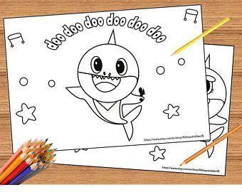 Invitation Hanazuki Etsy Baby Shark Song Baby Shark Shark Coloring Pages