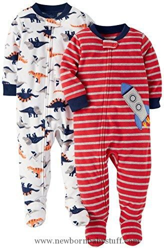 Baby Boy Clothes Carter S Baby Boys 2 Pack Fleece Pajamas Rocket Dino 12 Months Baby Boy Pajamas Baby Boy Outfits Boy Outfits
