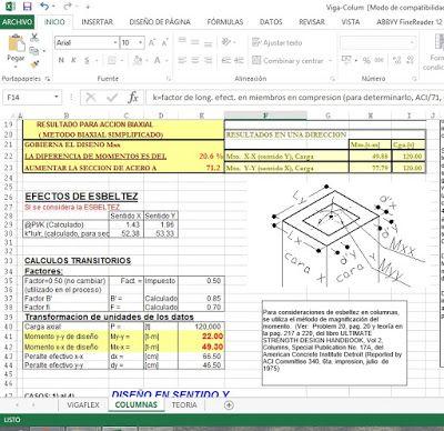 Plantillas Excel Para Ingenieros Civiles Concreto Armado Labels Periodic Table