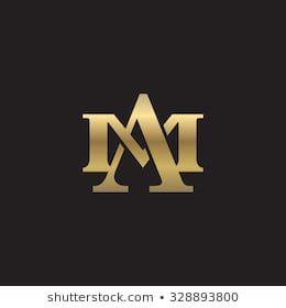 Letter M And A Monogram Golden Logo Monogram Logo Design Letter