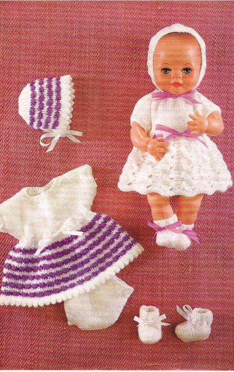 List Of Pinterest Vintage Knitting Patterns Free Baby Doll Clothes