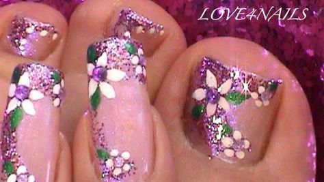 Cute nail and toe nail design