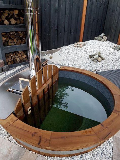 Badezuber Badefass Badebottich Hottub Hot Tub In 2019