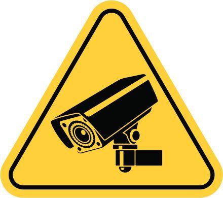 ビデオ監視します Cctv カメラ ベクターアートイラスト 防犯対策