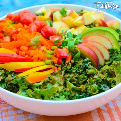 Heavenly Peach Avocado Salad! Day 5 of the FullyRaw 14-Day Challenge! New recipe here: http://youtu.be/sZ6-y6zZ9Nk